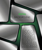 Metal background. Green silver metal vector background Royalty Free Stock Image