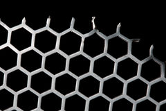 Metal Background hex pattern Royalty Free Stock Photography