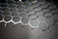 Metal Background hexagon pattern Stock Photos