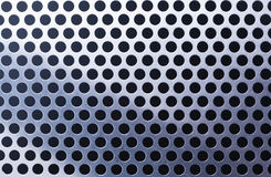 Metal background with holes Stock Photos