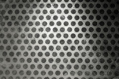 Metal background with holes Royalty Free Stock Image