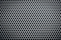 Metal background with holes Stock Photo