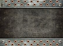 Metal background. Industrial metal background with screws Royalty Free Stock Photos