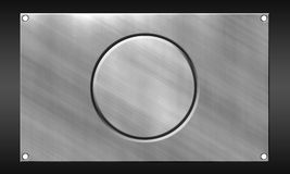 Metal background. The background is a large sheet of aluminum Royalty Free Stock Image