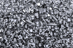 Metal background made of a lot of pieces Royalty Free Stock Photo