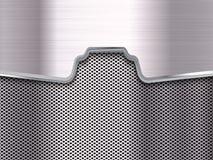 Metal Background. Metal Grid. Metal plate. Vector illustration Royalty Free Stock Photo