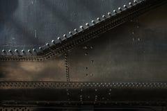 Metal background of old steam locomotive Stock Image