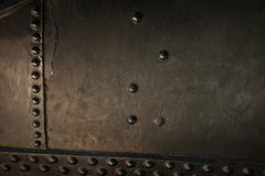 Metal background of old steam locomotive Royalty Free Stock Image