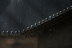 Metal background of old steam locomotive Stock Photography