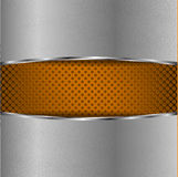 Metal background with orange grid Royalty Free Stock Image