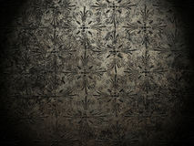 Metal background with ornaments Royalty Free Stock Photos