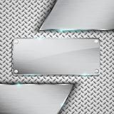 Metal background. Metal plate background.Vector illustration Stock Photo