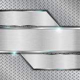 Metal background. Metal plate background.Vector illustration Stock Photos