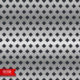 Metal background with rhombus shape patterns Stock Photo