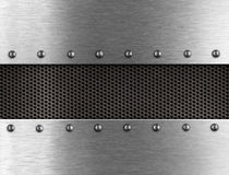Metal background with rivets Royalty Free Stock Images