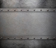 Metal background with rivets Stock Photos