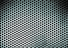 Metal background with round hole royalty free stock photo