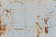 Metal background with rust. Rust stains. Corroded spots on the m. Etal surface Old rusty painted metal surfaces, doors, walls. Corrosion white background royalty free stock photos