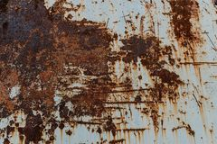 Metal background with rust. Rust stains. Corroded spots on the m. Etal surface Old rusty painted metal surfaces, doors, walls. Corrosion white background stock photos
