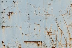 Metal background with rust. Rust stains. Corroded spots on the m. Etal surface Old rusty painted metal surfaces, doors, walls. Corrosion white background royalty free stock image