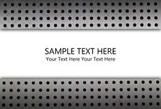 The metal background with sample text Royalty Free Stock Photography
