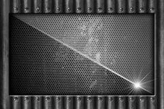Metal Background with Screws Royalty Free Stock Photography