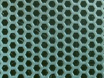 Metal background with small hexagons Royalty Free Stock Image