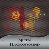Metal background splats Royalty Free Stock Photos