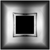 Metal Background with Square Screen Royalty Free Stock Photos