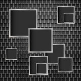 Metal background of squares Stock Photos