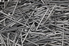 Metal Background - Steel nails Stock Photos Royalty Free Stock Images