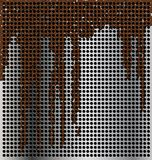 Metal background with streaks Stock Images