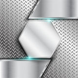 Metal background. For template .Vector Stock Photography