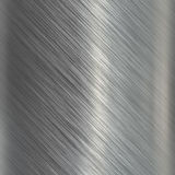 Brushed aluminum metallic plate Stock Image