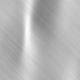 Brushed steel metallic plate Royalty Free Stock Photos