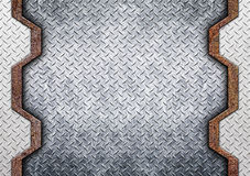 Metal background or texture of brushed steel plate, 3d, illustra Royalty Free Stock Images