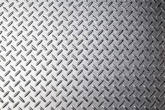 Metal background texture. Diamond plate. Top view Stock Photos