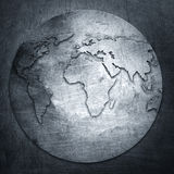 Metal background world map Stock Photos