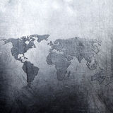 Metal background world map Royalty Free Stock Photo