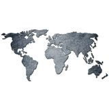 Metal background world map Royalty Free Stock Images