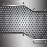 Metal background for your design Stock Image