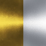 Metal backgrounds. Two metal texture backgrounds in gold and aluminum/steel Royalty Free Stock Photos