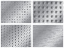 Metal backgrounds. Set of four metal backgrounds Royalty Free Stock Photo