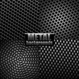 Metal backgrounds vector illustration