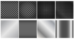 Metal backgrounds set Royalty Free Stock Image