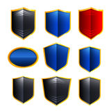 Metal badges set Royalty Free Stock Photo