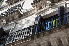 Metal balconies Stock Images