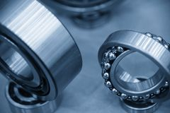 The metal  ball bearing spare part Stock Photo