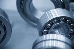 The metal  ball bearing spare part Stock Photography