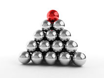 Metal ball pyramid Royalty Free Stock Photos